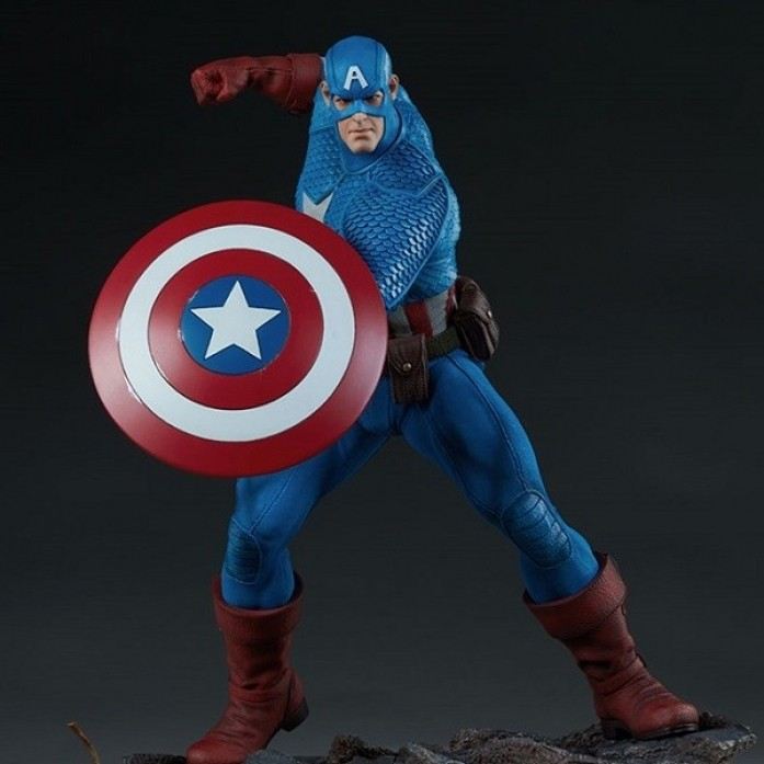 [파격 할인][SIDESHOW] 캡틴아메리카 어벤저스 어셈블 스태츄 ( Captain America Avengers Assemble Statue by Sideshow Collectibles )
